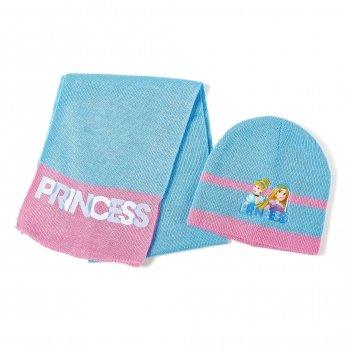 Комплект: шапка и шарф  Arditex, Princess (Принцессы) голубой