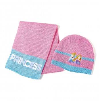 Комплект: шапка и шарф Arditex, Princess (Принцессы) розовый