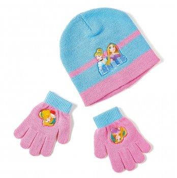 Комплект: шапка и перчатки Arditex, Princess (Принцессы) голубой