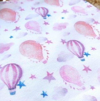 Пеленка фланелевая Embrace Воздушные шары со звездами