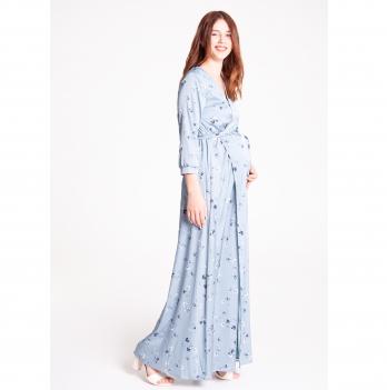 Платье для беременных и кормящих White Rabbit Windy Серебристо-голубой