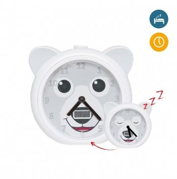Медвежонок тренер сна с часами и будильником Zazu ZA-BOBBY-01