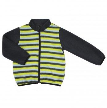 Флисовая кофта на мальчика Danaya 2-6 лет Темно-серый/Зеленый ЗО20-50
