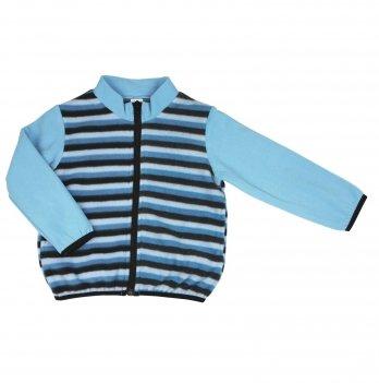 Флисовая кофта на мальчика Danaya 2-6 лет Голубой/Черный ЗО20-51