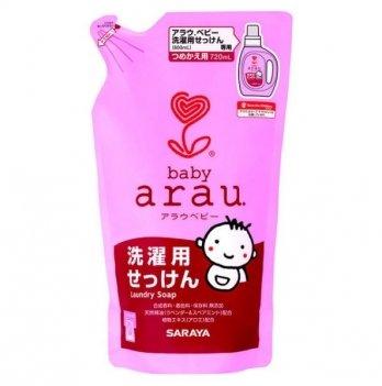 Жидкость для стирки детской одежды 720 мл, Arau Baby. сменный блок