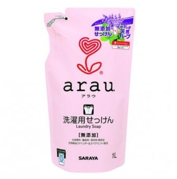 Жидкость для стирки одежды 1 л, Arau, сменный блок