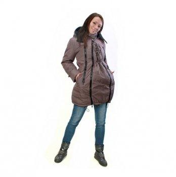 Зимняя куртка 3 в 1, Mamasik, коричневая