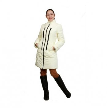 Пальто зимнее 3 в 1, Мamasik, молочное