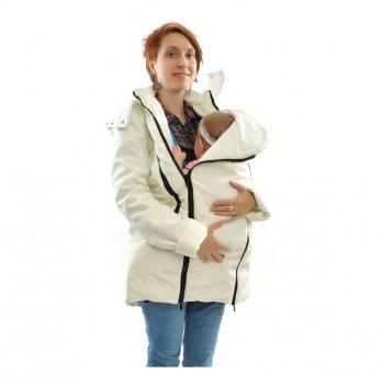 Зимняя куртка 3 в 1, Mamasik, молочная