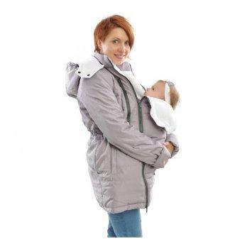 Зимняя куртка 3 в 1, Mamasik, светло-серая