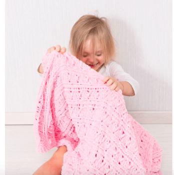 Плед Jolly Mummy зефирный большой розовый