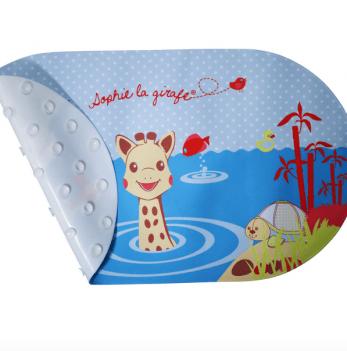 Антискользящий коврик для купания с индикатором температуры воды Vulli Жирафа Софи