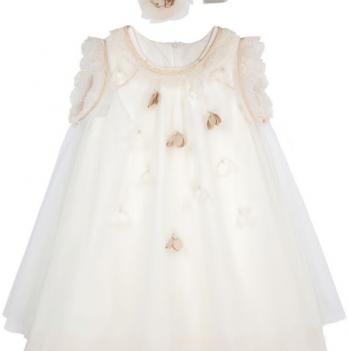 Нарядное платье FERLIONI, FB 1707, молочно-белое