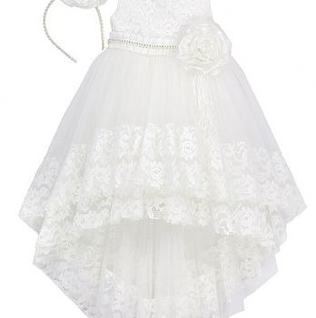 Нарядное платье FERLIONI, FL 16714, белое