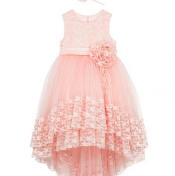 Нарядное платье FERLIONI, FL 16714, розовое