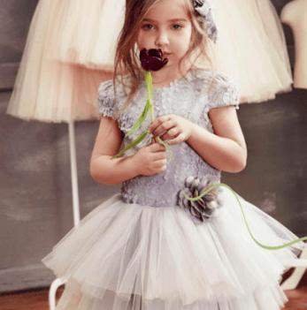 Нарядное платье FERLIONI, FB 7432 серое