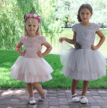 Нарядное платье FERLIONI, FB 7432 розовое