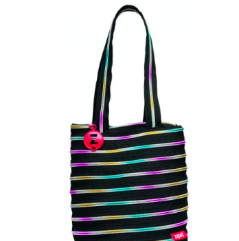 Сумка Premium Tote / Beach, цвет Black & Rainbow Teeth, Zipit ZBN-8