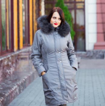 Зимняя куртка 2 в 1, Мamasik, серая