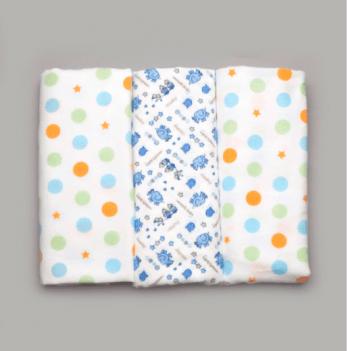 Комплект байковых пеленок для мальчика, Модный карапуз, 3 шт.