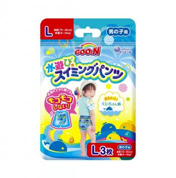 Трусики-подгузники для плавания Goo.N для мальчиков 9-14 кг, ростом 70-90 см, размер L, 3 шт