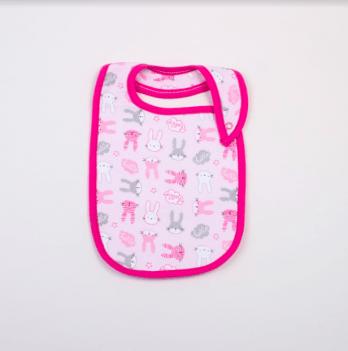 Слюнявчик Veres Hello Bunny pink интерлок