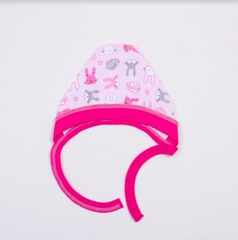 Чепчик Veres Hello Bunny pink интерлок