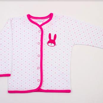 Кофточка Veres Hello Bunny white-pink