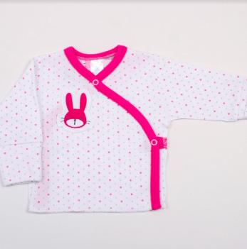 Распашонка Hello Bunny white-pink Veres