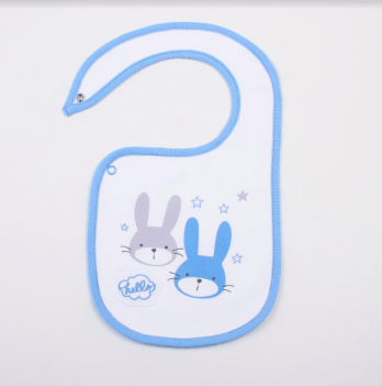 Слюнявчик Veres Hello Bunny blue интерлок