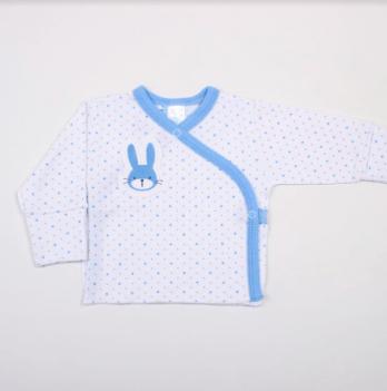Распашонка Hello Bunny white-blue Veres