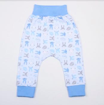 Штанишки Veres Hello Bunny blue интерлок