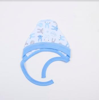 Чепчик Veres Hello Bunny blue интерлок