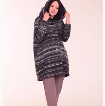 Полупальто White Rabbit Jojo Coat черный меланж