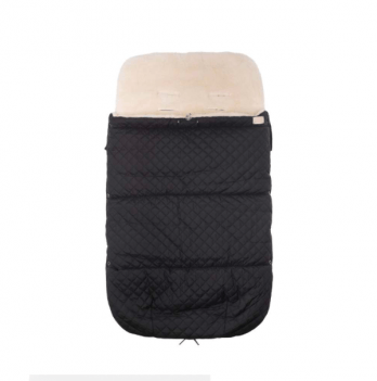 Зимний конверт в прогулочную коляску на овчине Merrygoround Черный