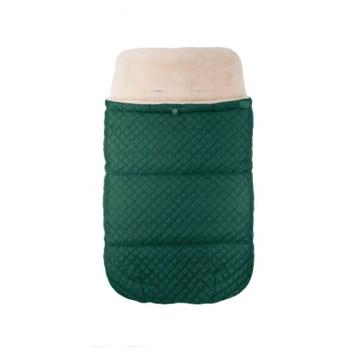 Зимний конверт в прогулочную коляску на овчине Merrygoround Зеленый