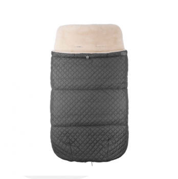 Зимний конверт в прогулочную коляску на овчине Merrygoround Серый