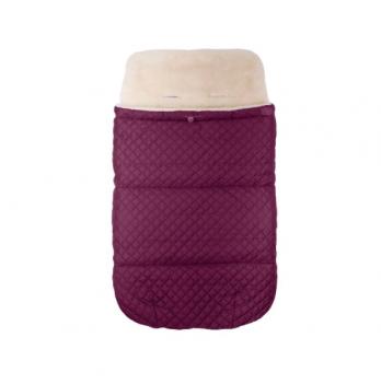 Зимний конверт в прогулочную коляску на овчине Merrygoround Бордовый