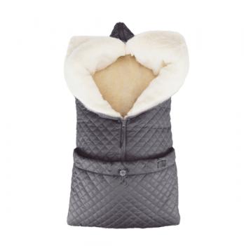 Зимний конверт-трансформер на овчине Merrygoround Серый