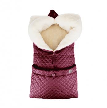 Зимний конверт-трансформер на овчине Merrygoround Бордовый