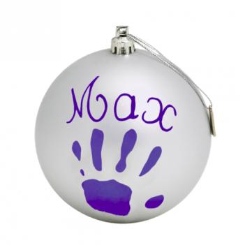 Рождественский шар Baby Art Серебристый 11 см