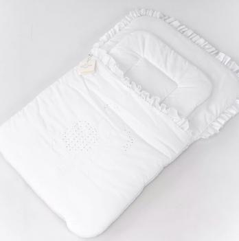 Конверт из батиста ТМ Sasha, декорирован стразами, белый