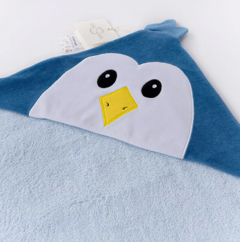 Уголок для купания ТМ Sasha, Пингвин, синий