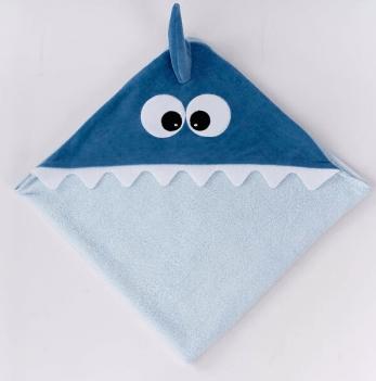 Уголок для купания ТМ Sasha, Акула, синий