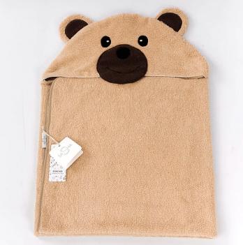 Полотенце ТМ Sasha, Мишка, темно-коричневое