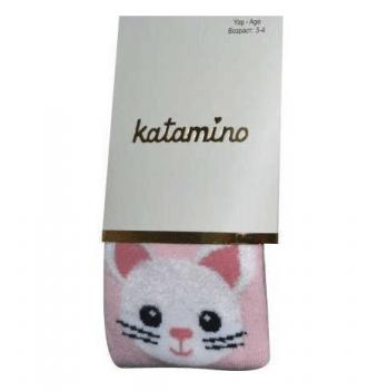 Колготки Katamino Котики K22078 розовые