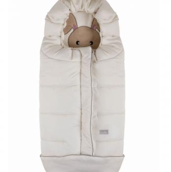Зимний конверт Nuvita Cucciolli Junior, молочный/кролик/бежевый