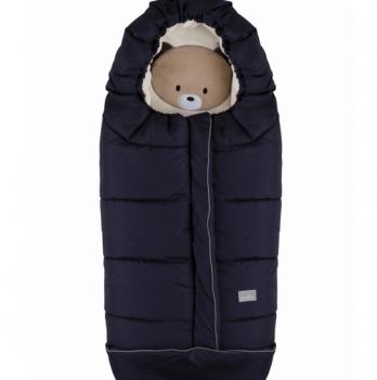 Зимний конверт Nuvita Cucciolli Junior, синий/медвежонок/бежевый