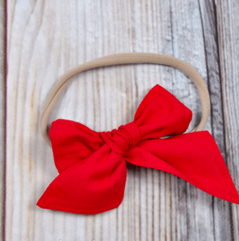 Повязка для девочки MagBaby Бантик, Красный