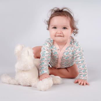 Бодик с длинным рукавом Sasha Коралловый 0-15 месяцев 4157/1